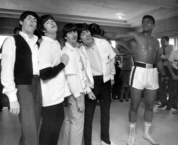 The Beatles and Cassius Clay, 5th street Gym, Miami, 1964