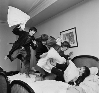 Beatles' Pillow Fight, George V Hotel, Paris, 1964
