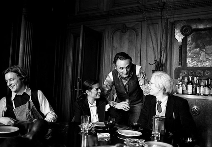 Jamie Wyeth, Bianca Jagger, Larry Rivers, Andy Warhol, New York, 1977