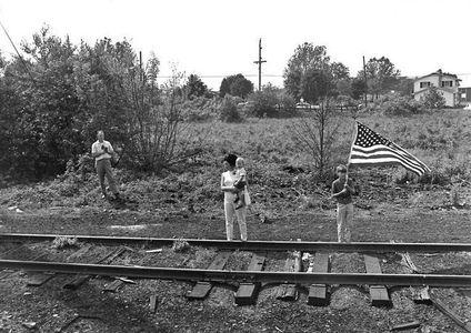 Senator Robet Kennedy Funeral Train to Arlington, 1968