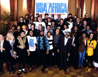 USA for Africa, We ARe the World recording session, Los Angeles, 1985