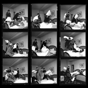 The Beatles Pillow Fight Contact Sheet, George V. Hotel, Paris, 1964