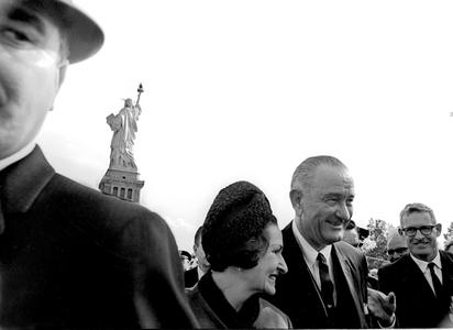President and Mrs. Lyndon B. Johnson, New York 1964