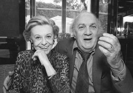 Giulietta Masina and Frederico Fellini, Rome, 1992
