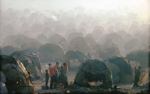 Dr. Milton Avery, Refugee Camp, Las Dhure, Somalia, 1981