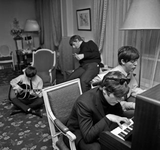 The Beatles Composing, George V Hotel, Paris, 1964
