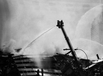 World Trade Center Aftermath, New York, 9-12-01.