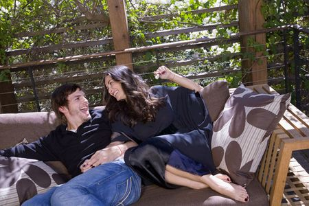 Demi Moore and Ashton Kutchner, Los Angeles, 2006