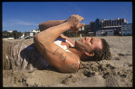 Mickey Rourke, Malibu, 1995