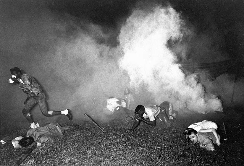 Teargassing, Canton, Mississippi, 1966