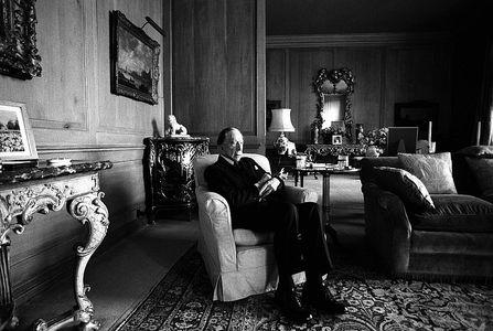 J. Paul  Getty,  near London, 1974