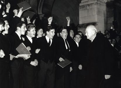 Sir Winston Churchill, Harrow School, England, 1964