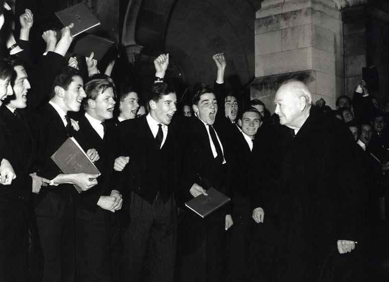 Sir Winston Churchill, Harrow School, England, 1964