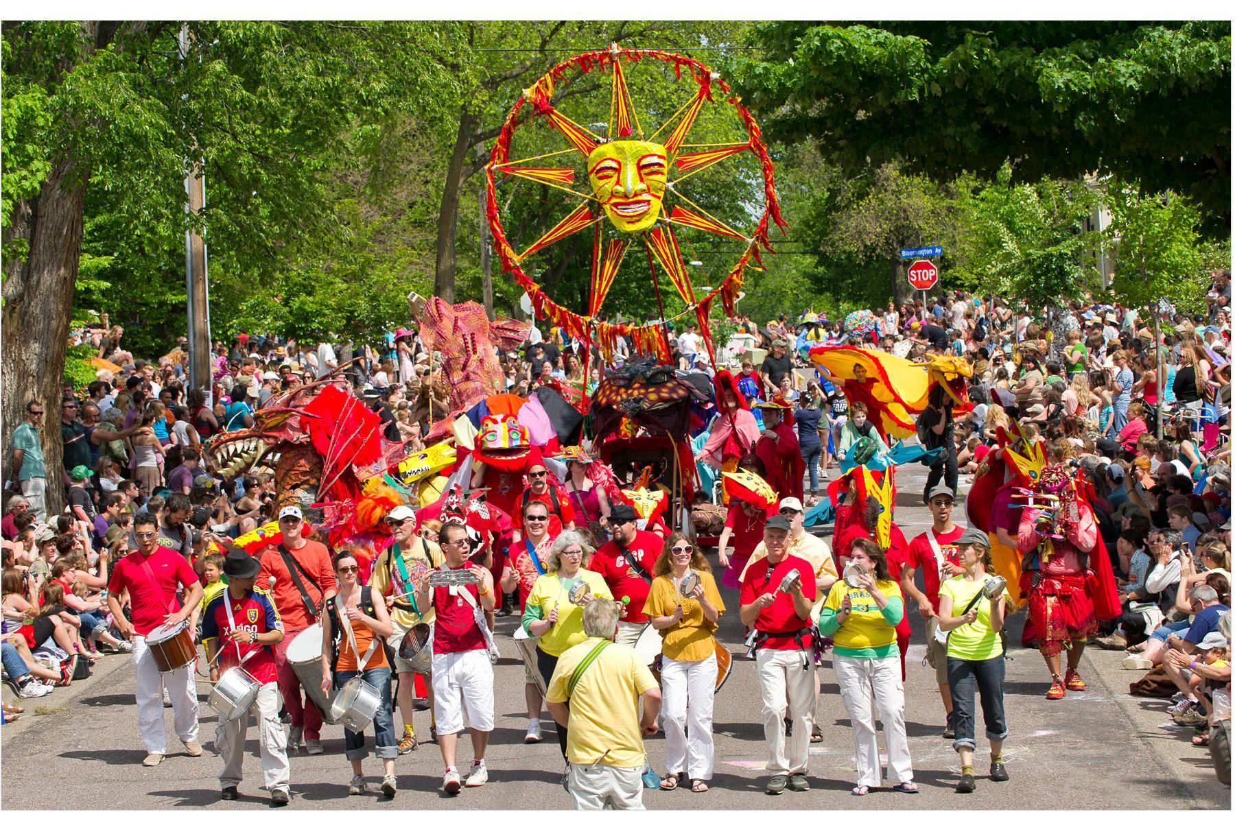 May Day Parade in Minneapolis at Powderhorn Park.