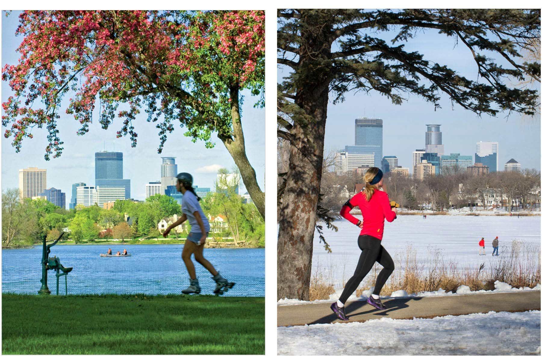 Minneapolis Skyline Lake of the Isles - Sports