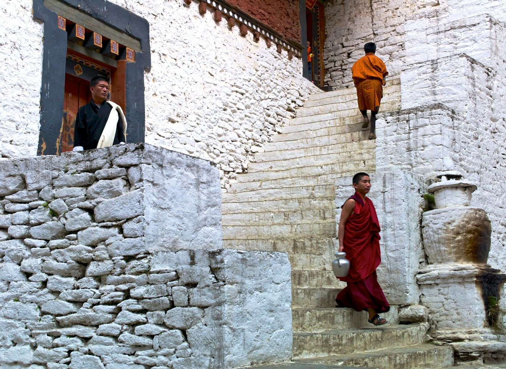 Monastery Steps, Bhutan