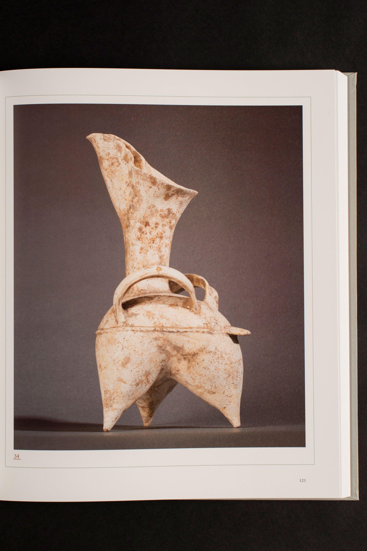 'White' Pottery Tripod Ewer