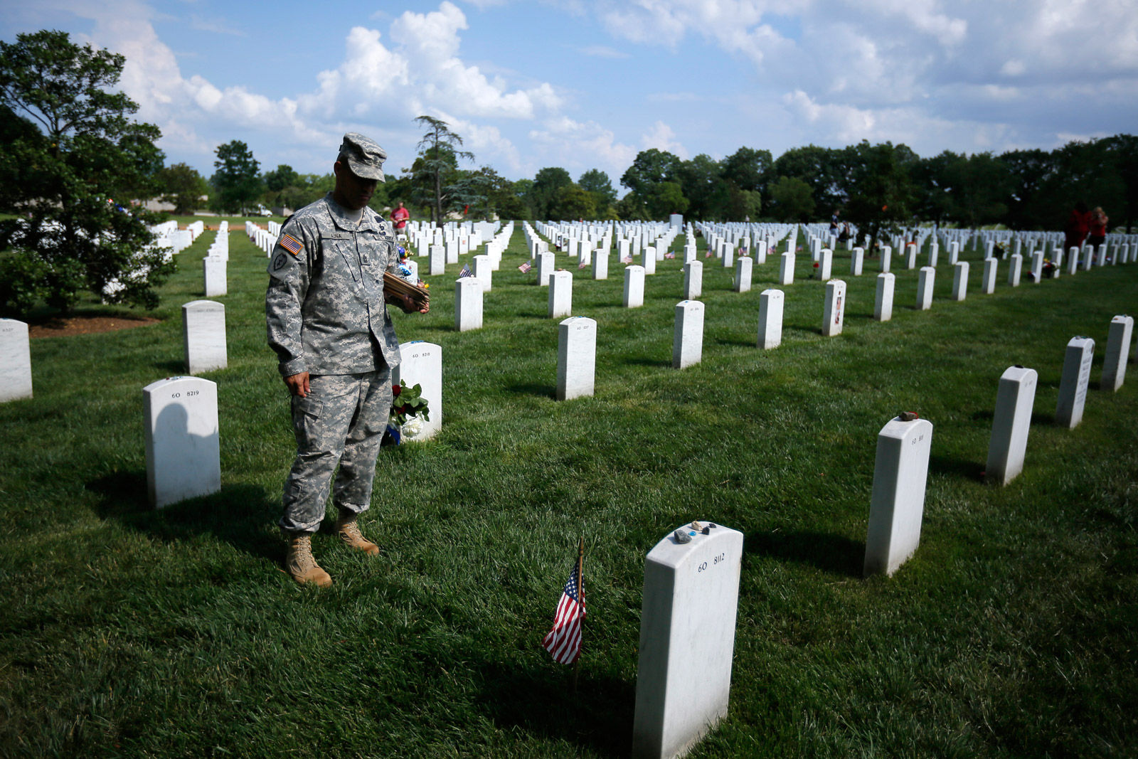 Flags In Ceremony at Arlington National Cemetary on May 24, 2012