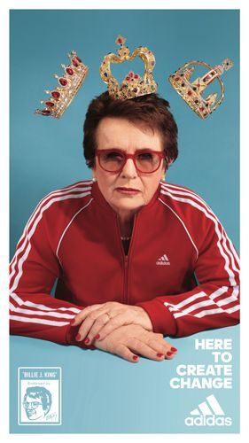 Billie Jean King for Adidas