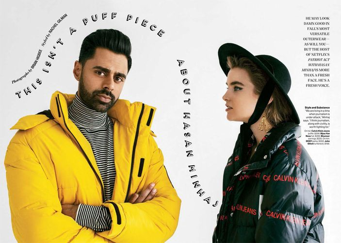 Hasan Minhaj and Ali Michael for Glamour