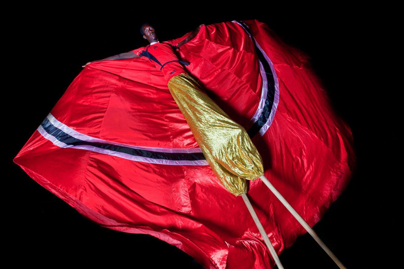 MOKO JUMBIE WITH TRINIDADIAN FLAG
