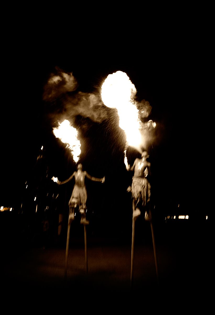 MOKO JUMBIES BLOWING FIRE