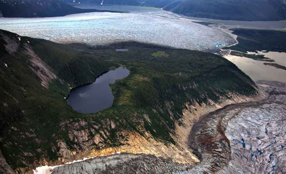 Taku and Norris Glaciers in Juneau, Alaska
