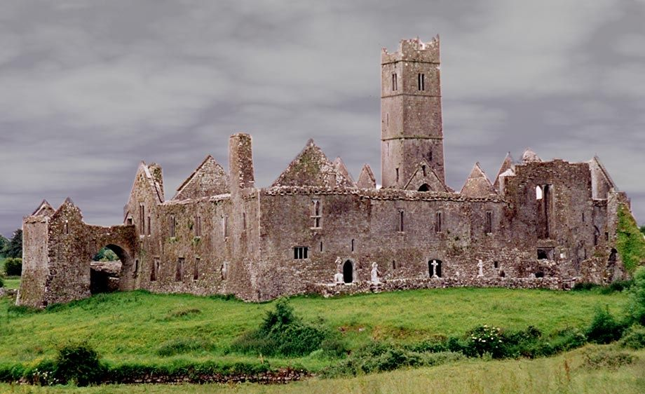 Quin Abbey in Quin, County Clare Ireland - Built in 1402