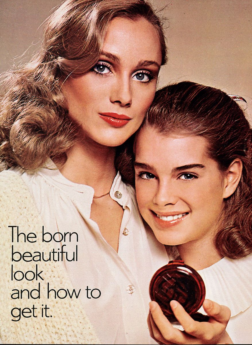 Brook Shields as a young model, for Avon