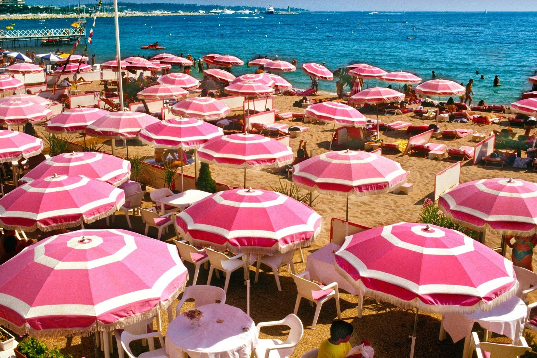 Pink Umbrellas – Cannes, France