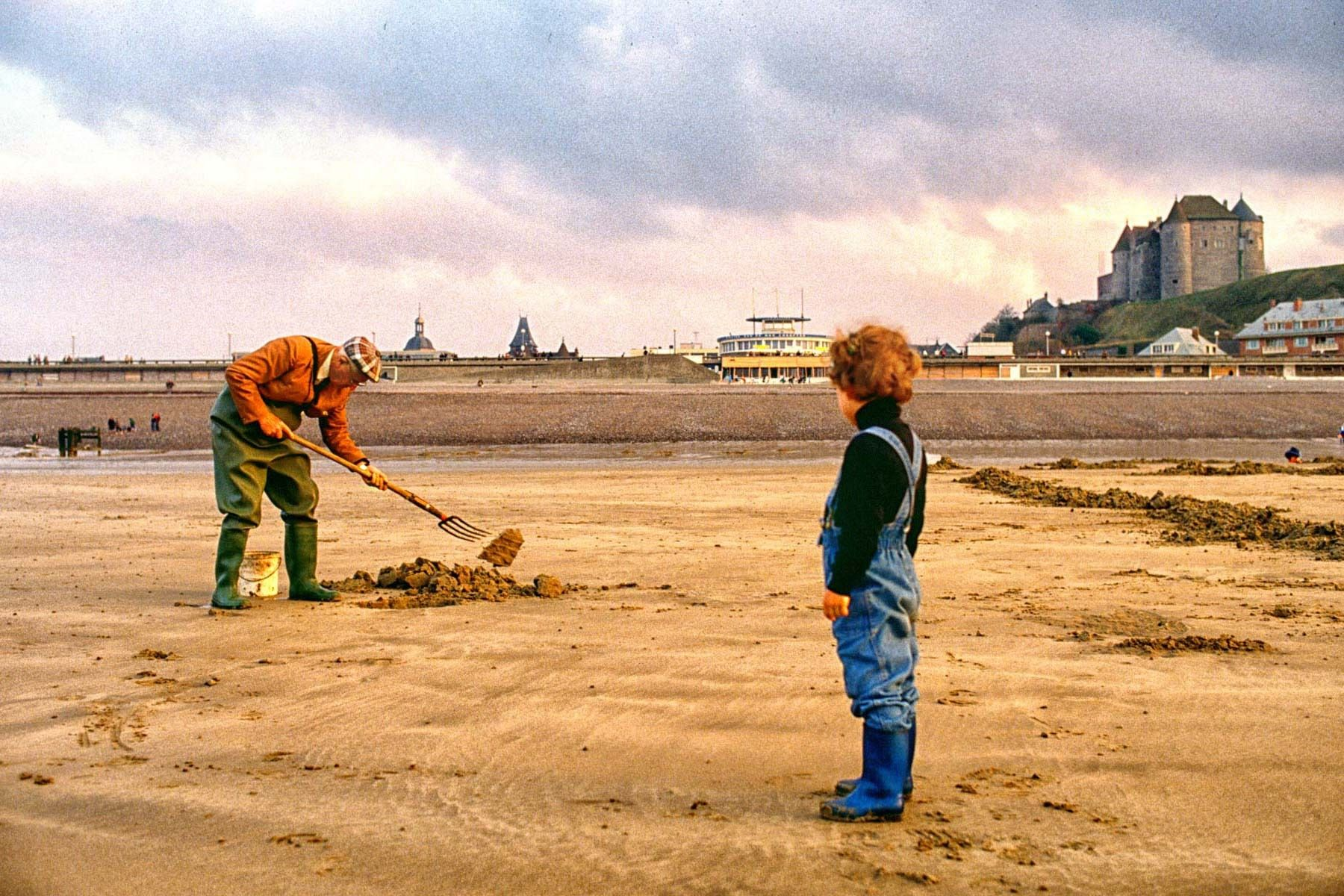 Clam Digger, Normandy, France