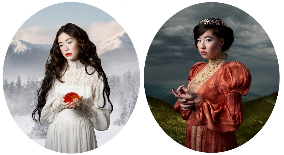 Lew sisters as Snow White and her Mother