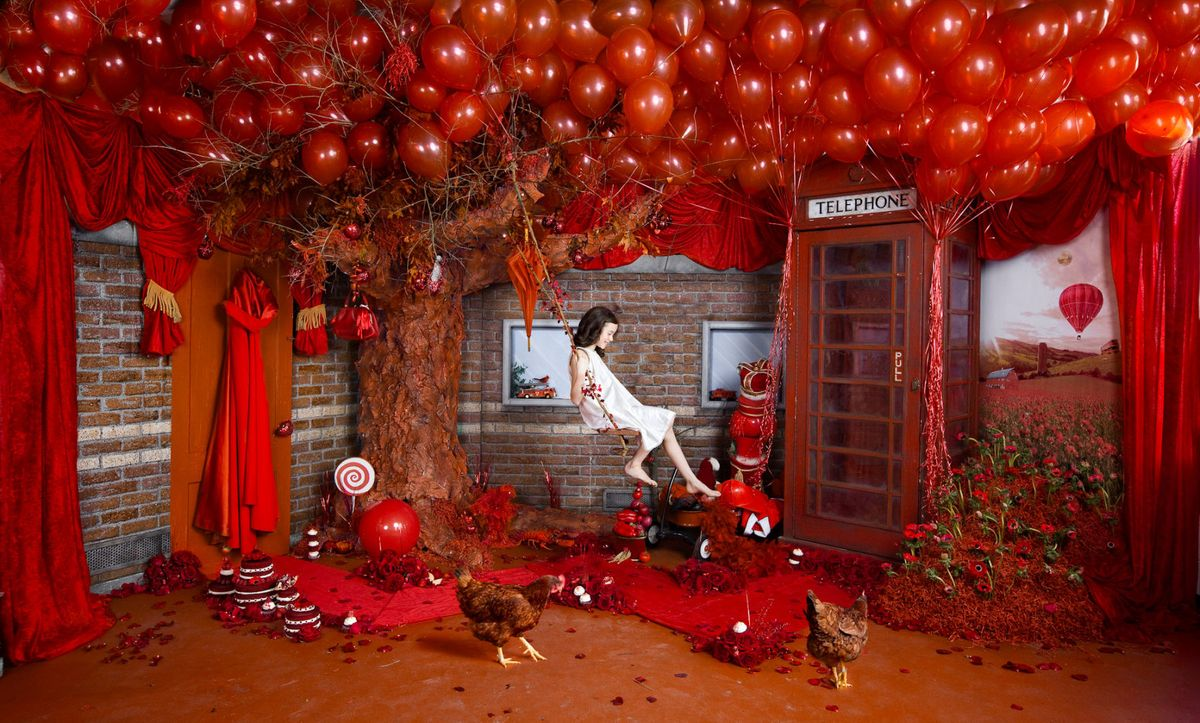 Swinging Through Red
