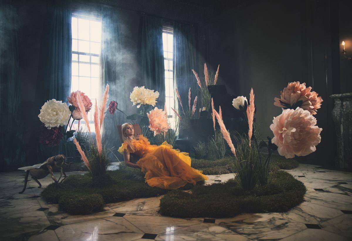Portrait in Fantasy garden