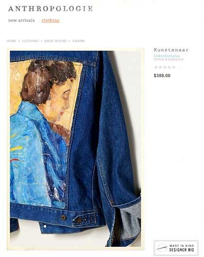 Anthropologie designer Jacket