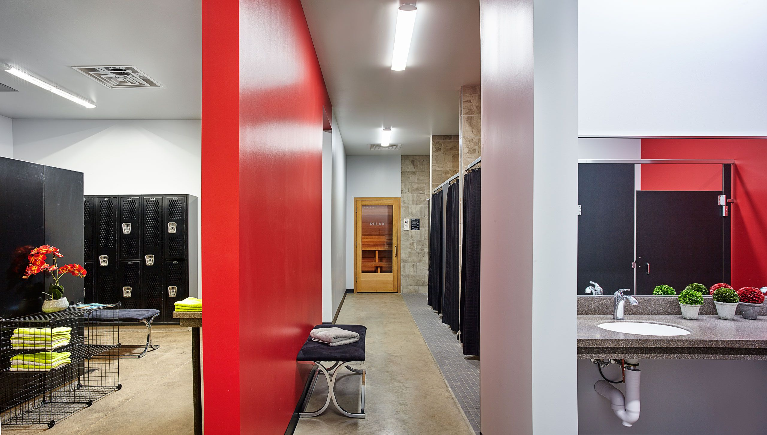 Interior architectural photograph bathroom True Fitness