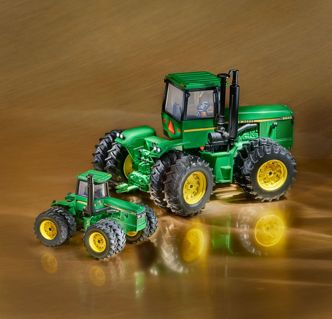 Green Toy Farmer tractors