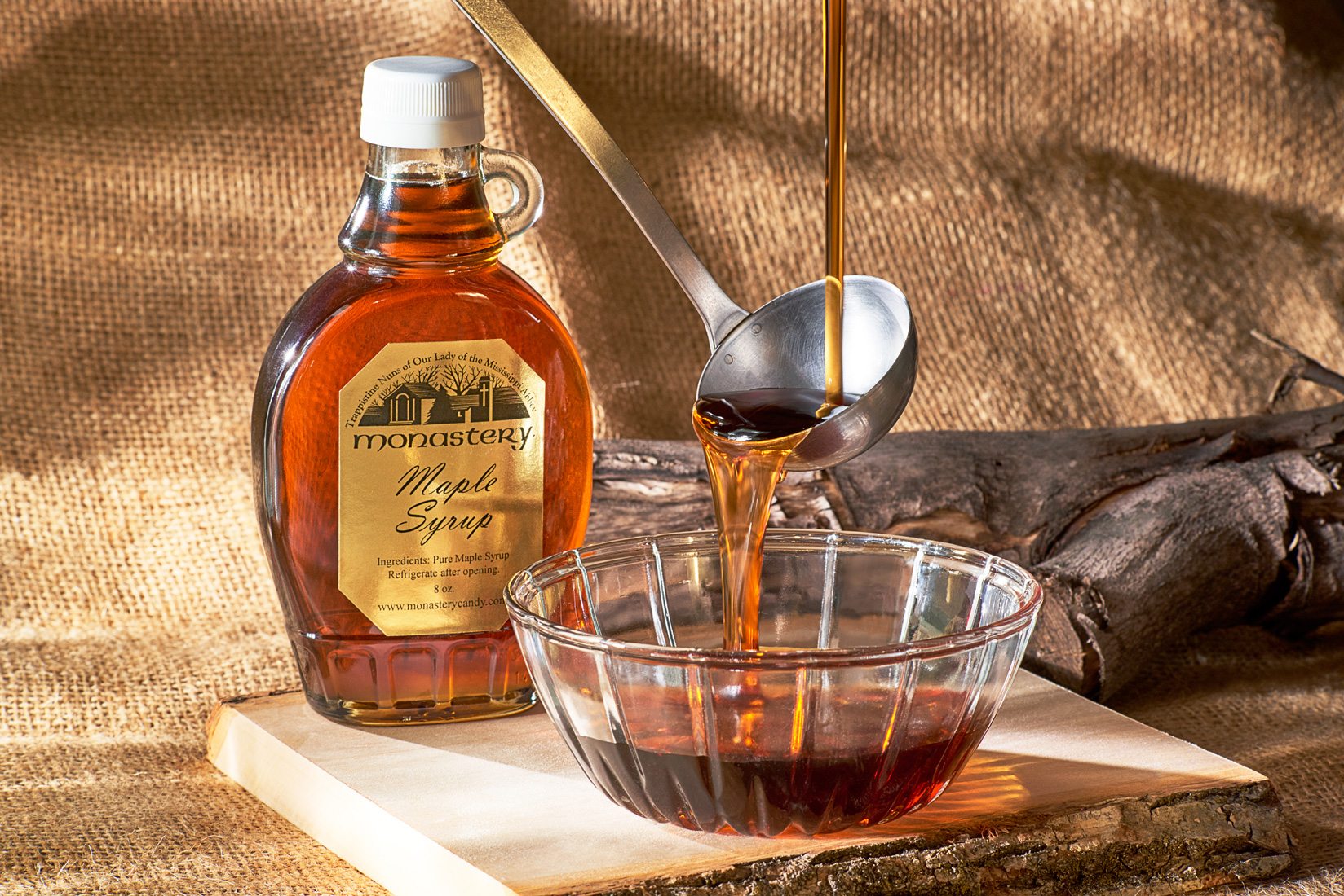 Monastery Maple Syrup food photography