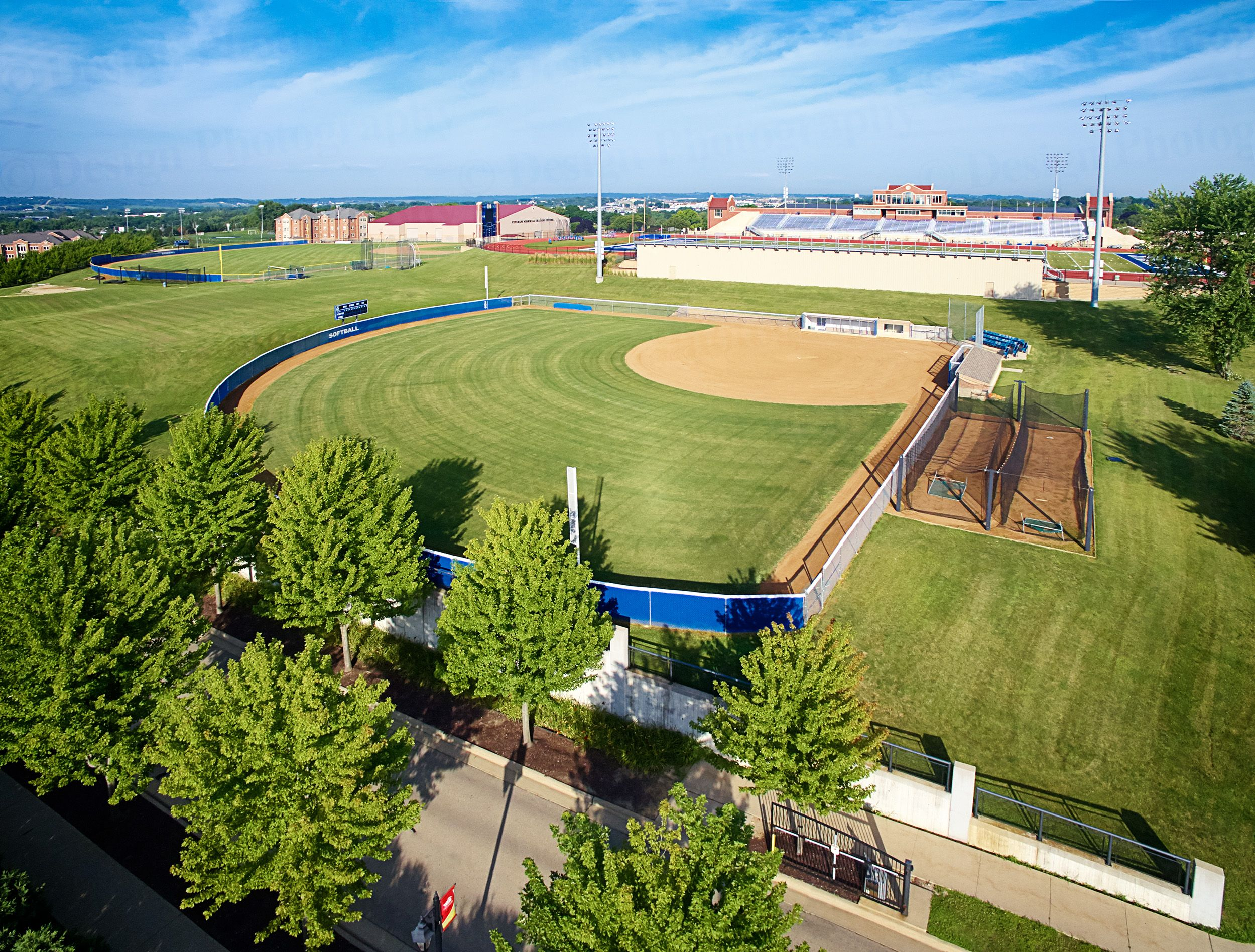 Baseball field at University of Dubuque