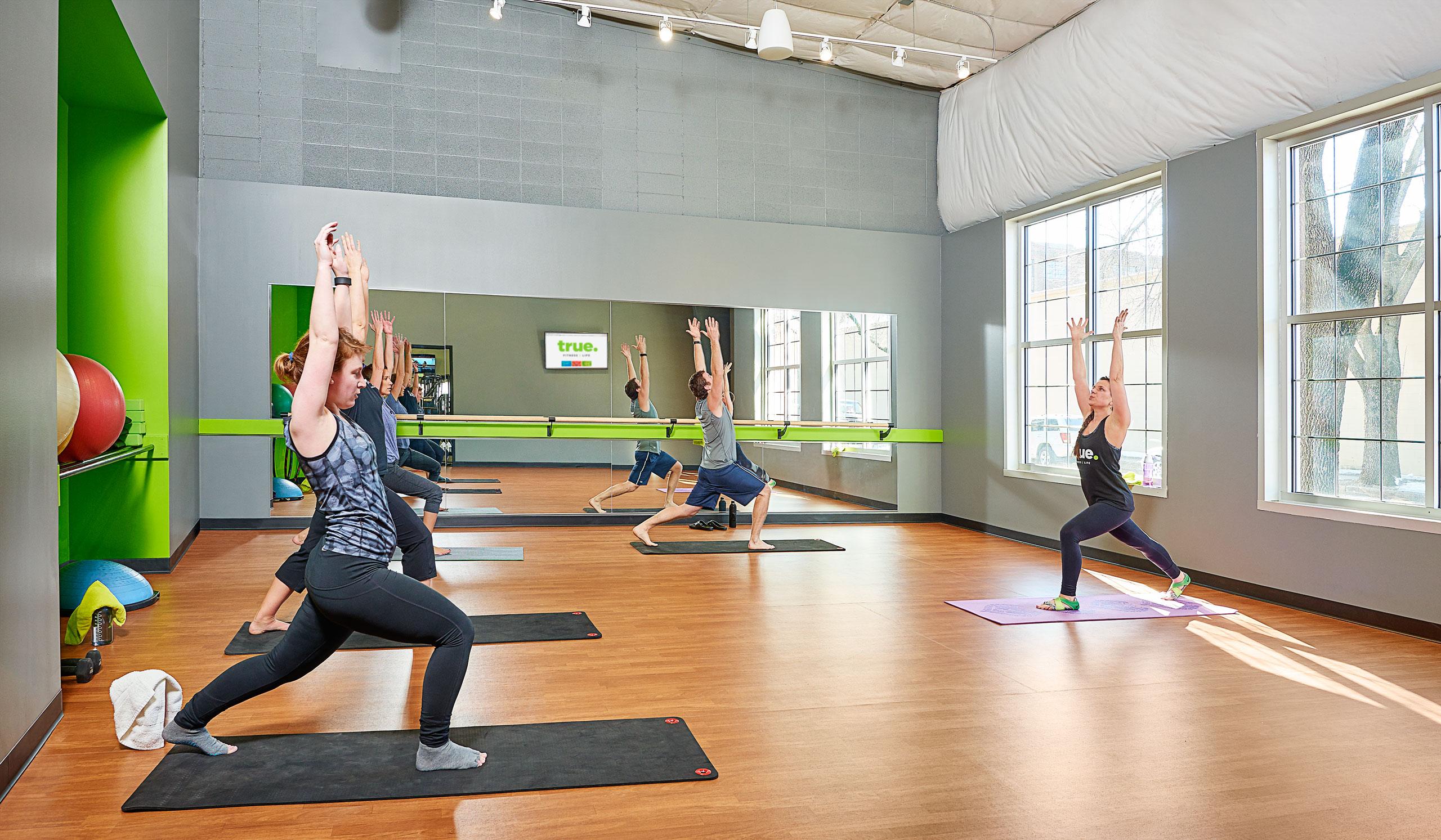 Yoga studio at True Fitness