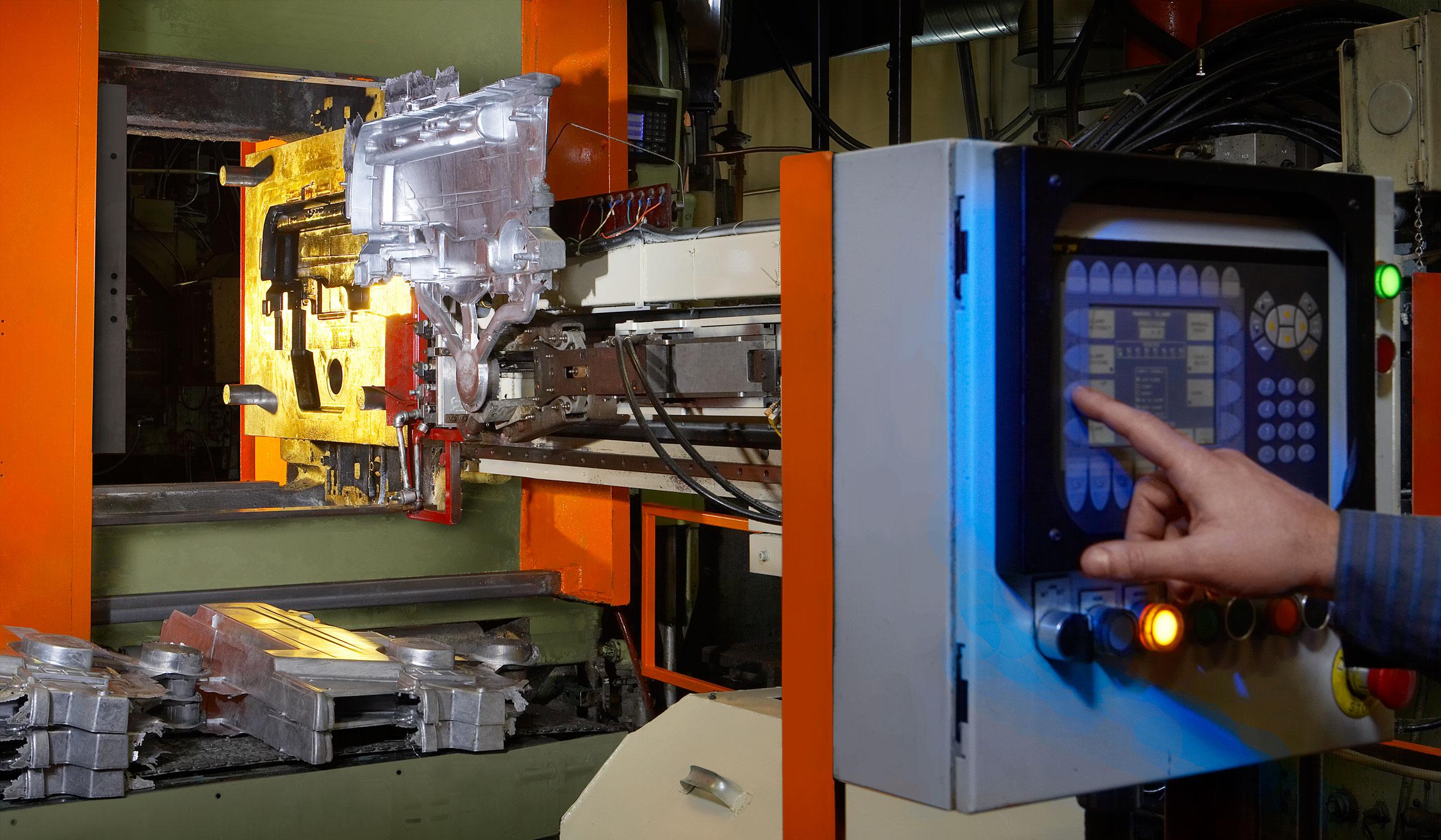 Foundry aluminum casting machine