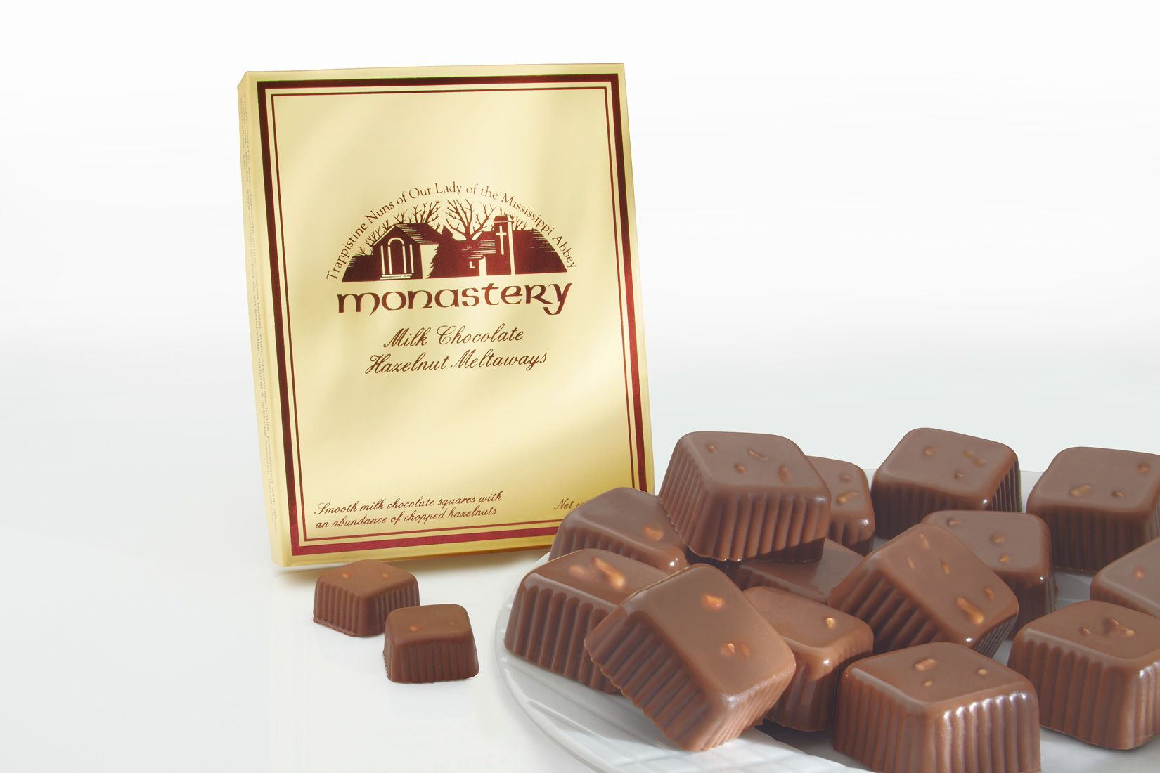 Monastery milk chocolate hazelnut meltaways food photography