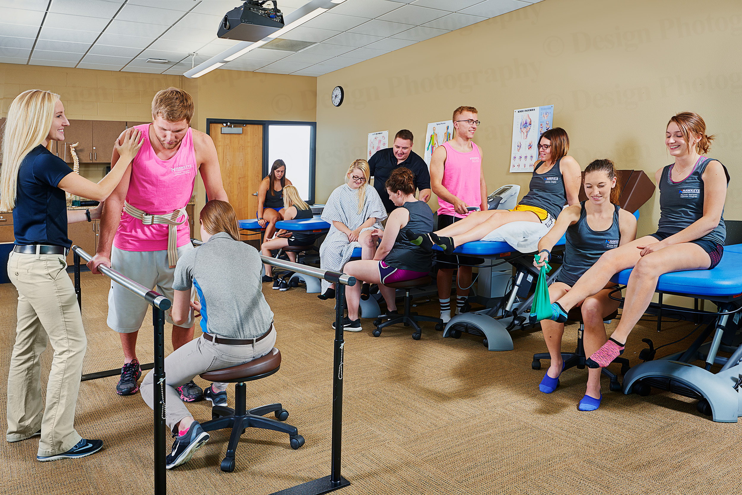 Students in a rehabilitation classroom at Hawkeye Community College