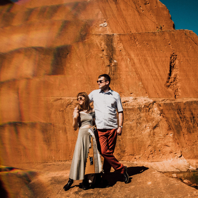 A  Couples Session in Red Rock Canyon