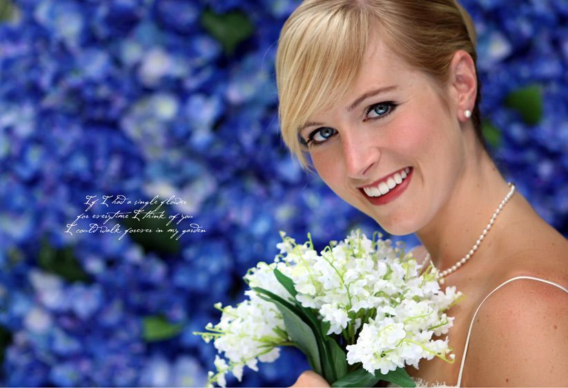 Caroline in blue