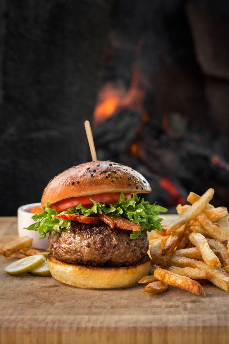 big juicy burger.