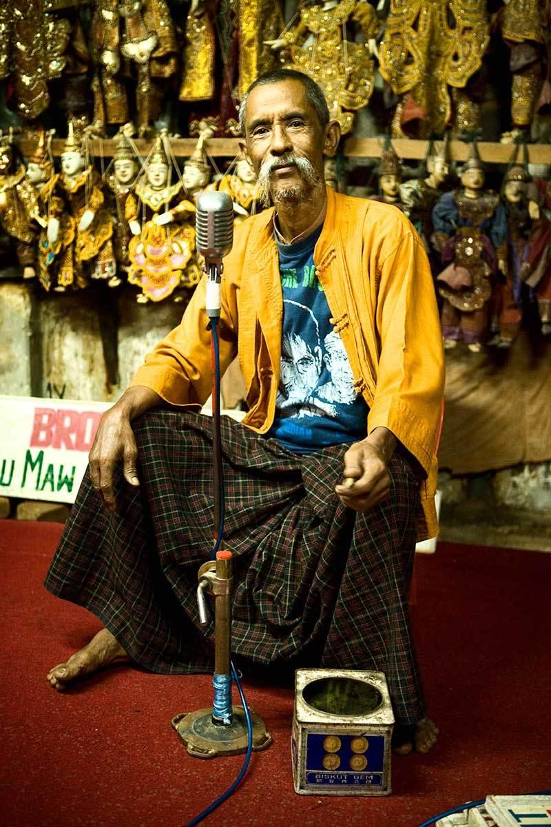 The Moustache Brothers, Yangoon, Myanmar.