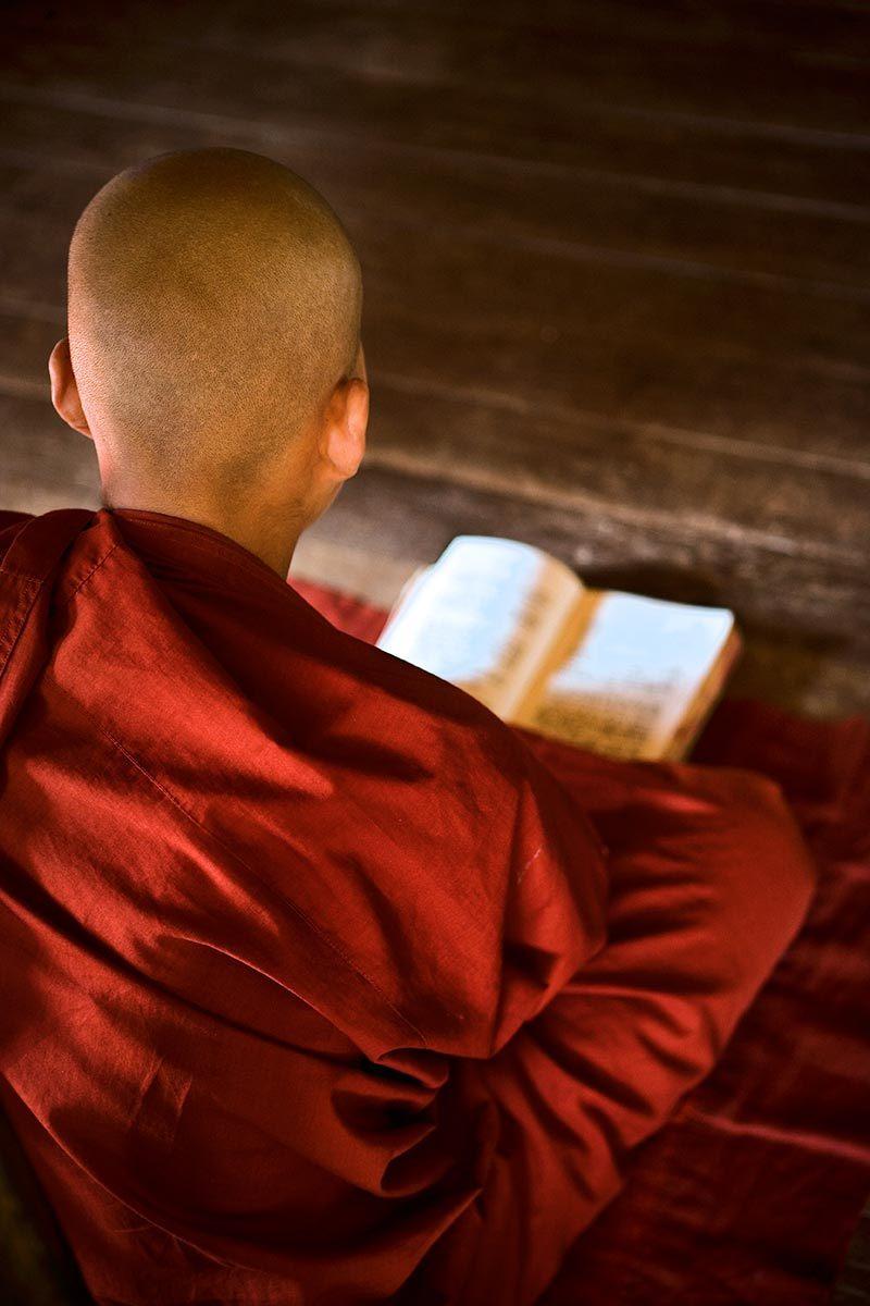 Young buddhist monk, Myanmar.
