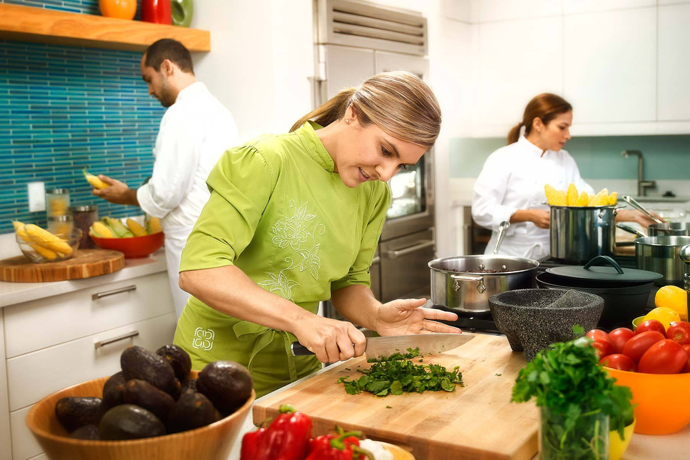 Lorena Garcia in her kitchen, for Taco Bell.
