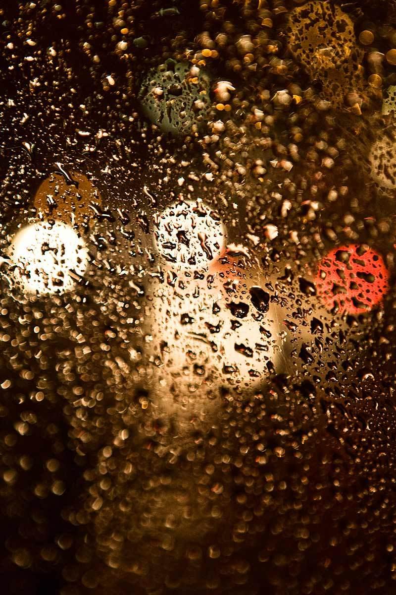 Rainy window, Milan, Italy.